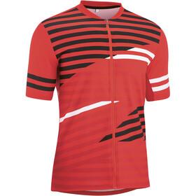 Gonso Agno Full-Zip SS Bike Shirt Men high risk red